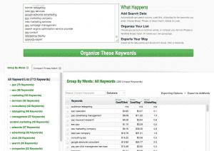 spyfu groupie tool