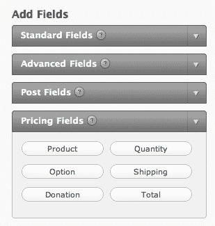 Order Form Options