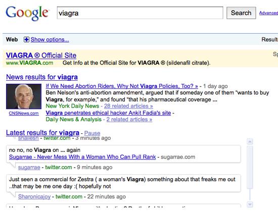 Viagra SERP