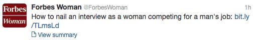 ForbesWoman Tweet