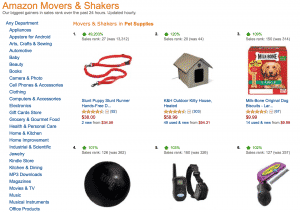 dog product movers and shakers