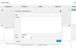 add new post screen